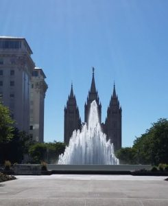 Salt Lake City Temple and Fountain, 2016