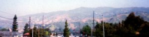 Picture of San Gabriel Mountains taken from San Dimas,California, 1996
