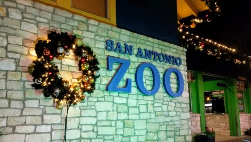 San Antonio Zoo Entrance, Christmas 2018